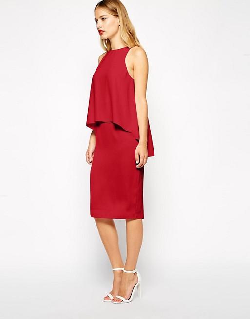 ASOS Pencil Dress With Layered Top | AS