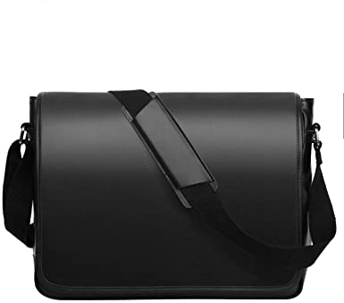 Amazon.com: Leathario Men's Leather Shoulder Bag 14inch Laptop Bag .