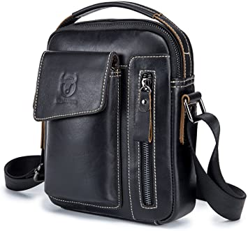 Amazon.com | Genuine Leather Men Bags Small Shoulder Crossbody Bag .