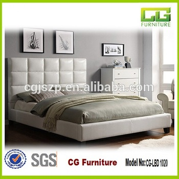 New Design Pu Genuine Leather Bed French Headboard For Bedroom .