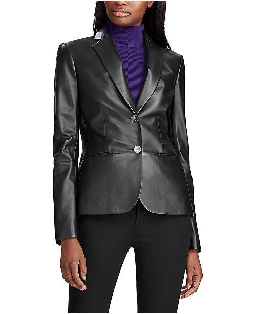 Lauren Ralph Lauren Leather Blazer & Reviews - Jackets & Blazers .