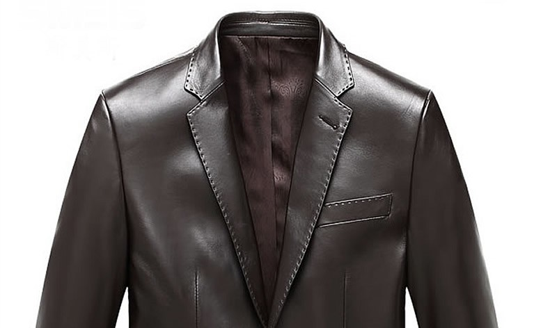 Mens Brown Leather Blazer - Genuine Lambskin Jack