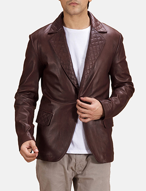 Men's Leather Blazers - Buy Leather Blazers for M