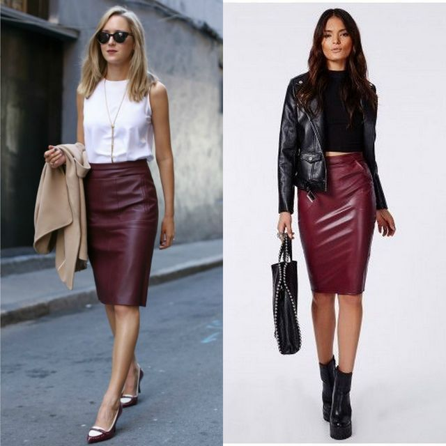 84 Leather Pencil Skirt Outfits That'll Make You Want A Leather .