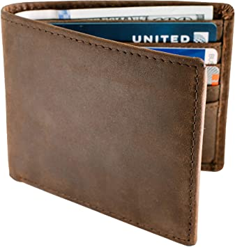 Amazon.com: Wallets For Men RFID Blocking | Mens Leather Bifold .