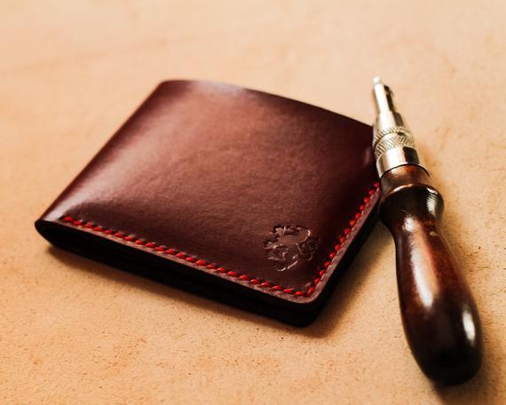 Mens leather wallet Slim wallet Credit card holder Wallets | Et