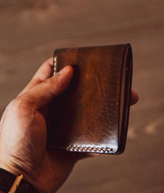 Mens leather wallet Mens wallet slim Leather wallet men | Et