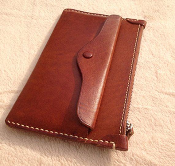 Handmade women leather wallet vintage wallet by MagicLeatherStudio .