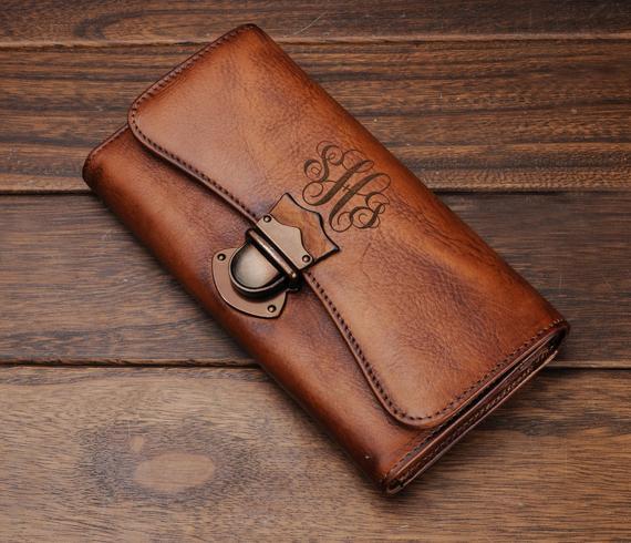 Womens wallet leatherleather womens walletMonogram | Et