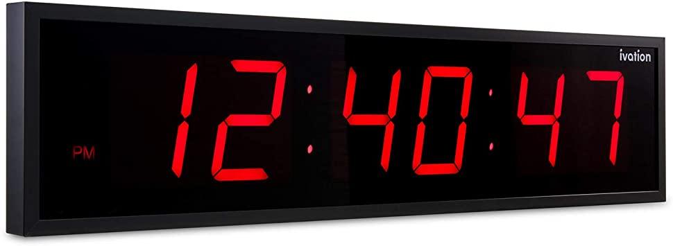 Amazon.com: Ivation Huge Large Big Oversized Digital LED Clock .
