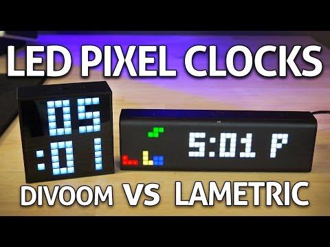 Smart LED Pixel Clock: Divoom Timebox Mini vs LaMetric REVIEW .