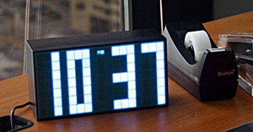 Giant Pixel LED Alarm Clo