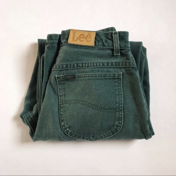 Lee Jeans | Vintage High Waist Forest Green Mom Jean | Poshma
