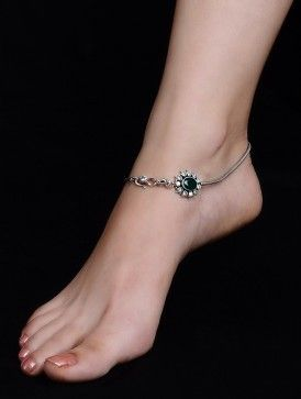 Buy Online (With images) | Beautiful anklet, Silver anklets, Ankle .
