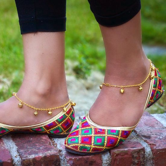 These simple anklets (payal) are perfect from summer. They take .