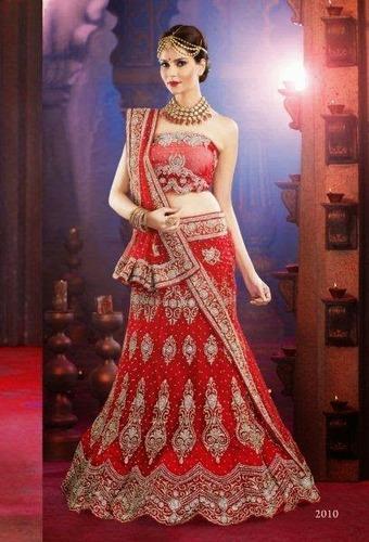 Bridal Lehenga Sarees, लहंगा साड़ी - Saptrangi, Surat .