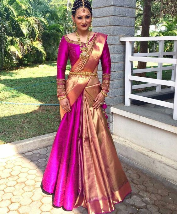 How to wear a Half Saree like a Lehenga Saree in 7 Different Wa