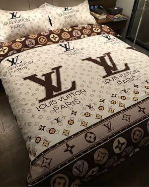 GUCCI 4PCS BEDDING HIGH QUALITY COTTON SET LV SHEET | Designer bed .