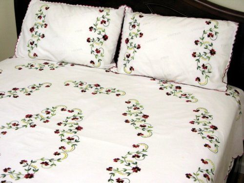 hand embroidery designs for bed sheets - Google Search .