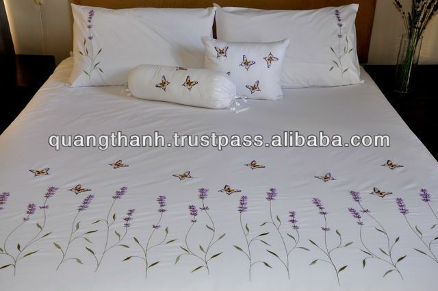 hand embroidery bedding set, View embroidery bedding set .