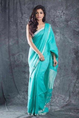Linen Jute Party Wear Pure Linen Sarees, Rs 1750 /piece Shiv Sai .