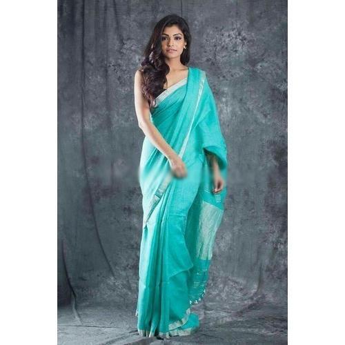 Party Wear Fancy Linen Saree, Length: 6.3 m, Rs 1500 /piece Sunag .