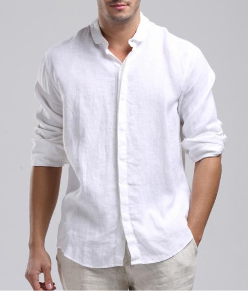 Mens Linen Shirt … | Linen shirt men, Mens wedding shirts, Linen shi