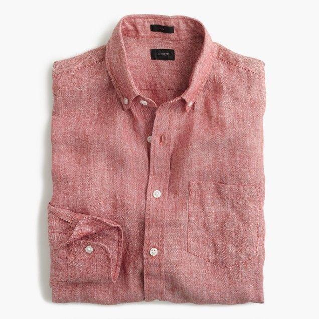 JCrew slim linen shirt-Casual summer shirts for men. Summer wear .