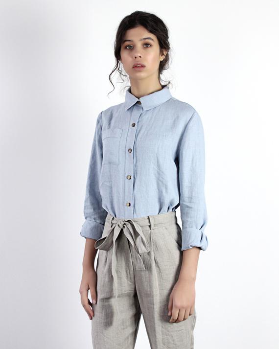 Linen shirt IRIS Linen Shirts for Women Linen Shirt Long | Et