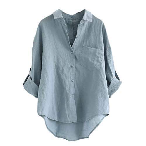 Women's Linen Shirt: Amazon.c