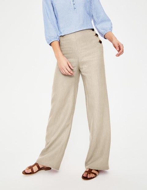 Penzance Linen Pants - Ecru | Boden