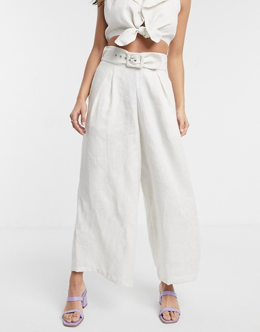 Faithfull lena wide leg linen trousers | AS