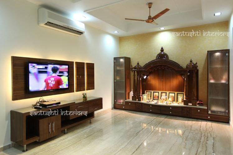 Pooja Room Designs in Hall (With images) | Pooja room door design .