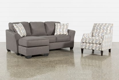 Tucker 2 Piece Living Room Set With Accent Chair | Living Spac