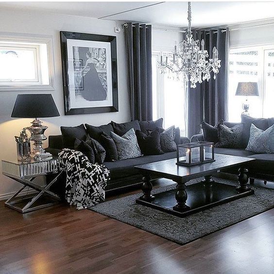 100 Modern Home Decor Ideas (With images) | Dark living rooms .
