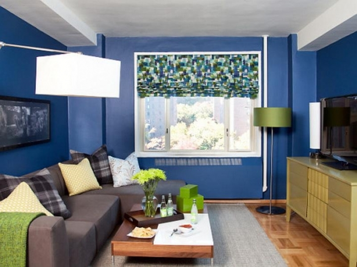 Paint Color Ideas For Small Living Room Within Charming Blue Decor .