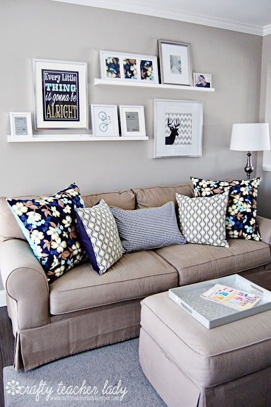 IDEAS for Small Living Spaces | Home decor, Home living room .