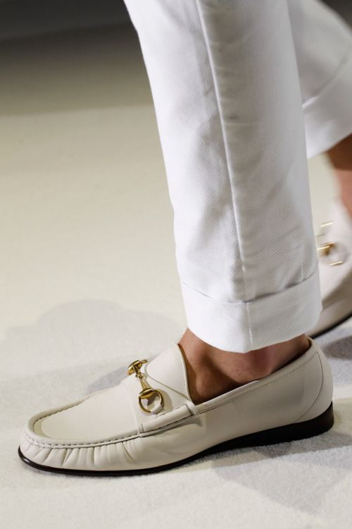 Cream loafers with gold buckle for men (With images) | Shoes mens .