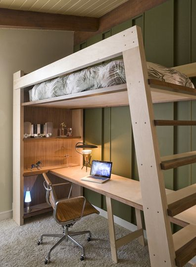 loft bed - hand-made (With images) | Bunk bed designs, Bunk bed .