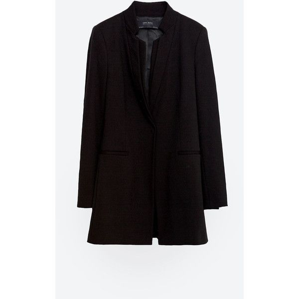 Zara Long Blazer (6.815 RUB) ❤ liked on Polyvore featuring .