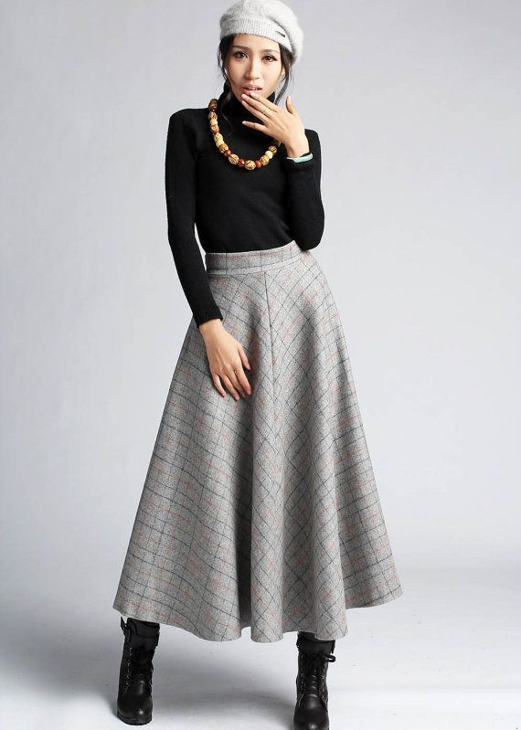 Style Files: Winter Skirts (With images) | Long skirt outfits .