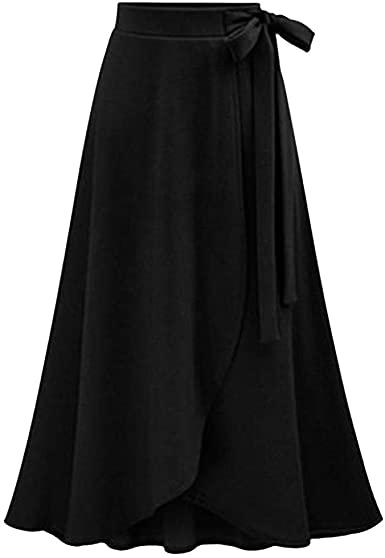 LISTHA A Line Long Skirts for Women with Pockets High Waist .