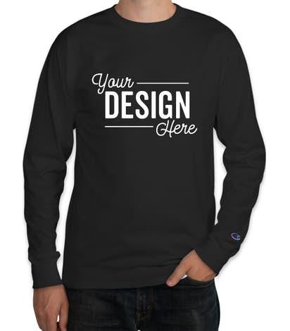 Custom Champion Garment Dyed Long Sleeve T-shirt - Design Long .