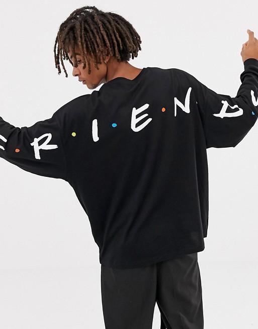 ASOS DESIGN Friends oversized long sleeve t-shirt | AS