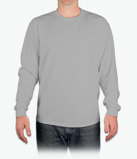 Custom Hanes Long Sleeve Tagless T-Shirt - Design Onli