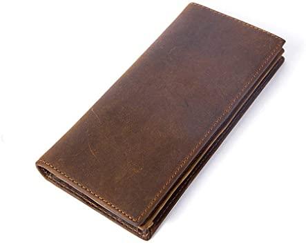 Amazon.com: Men's Long Wallets Vintage Genuine Leather Bifold .