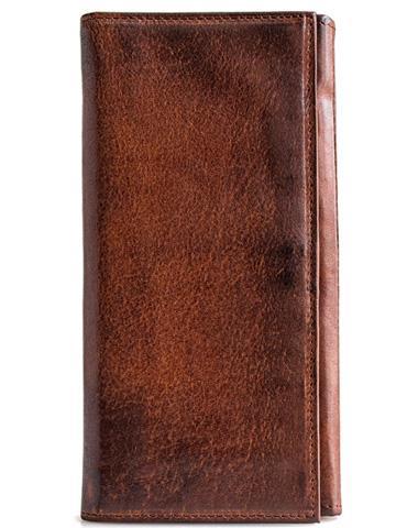 Handmade leather long wallet leather men phone clutch vintage wallet