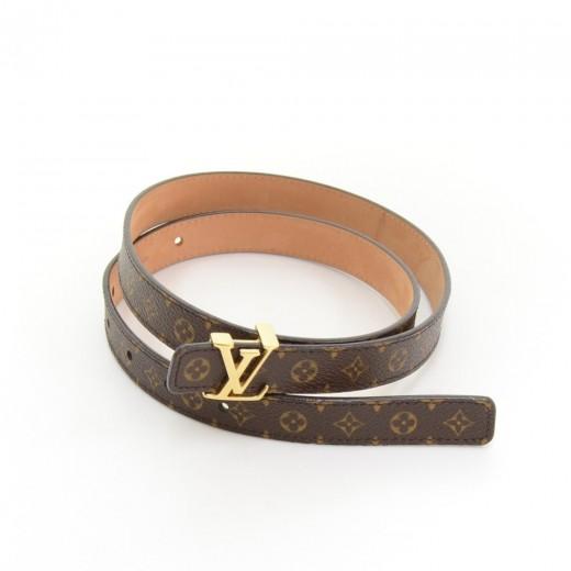 Louis Vuitton Louis Vuitton LV Initials Monogram Canvas Thin Belt .