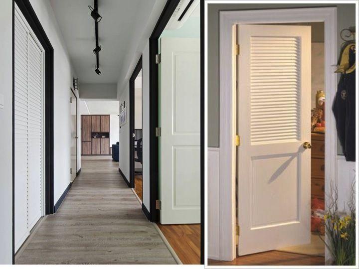 Doors: louvre door for toilet and white doors | Scandinavian doors .
