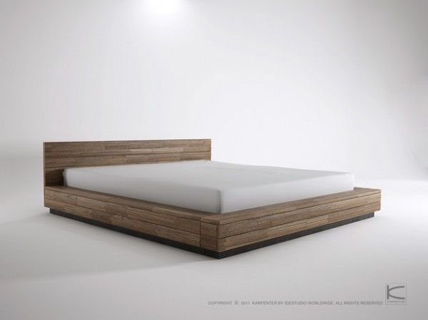 Low Bed Frames Solve the Issue of Space (With images) | Low bed .